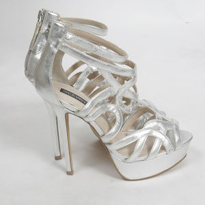 NEW Shoemint Emery Stiletto Silver Heels-Size 6